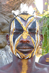 Nuba - body painting by Rita Willaert - Licence Creative Commons BY/NC/SA