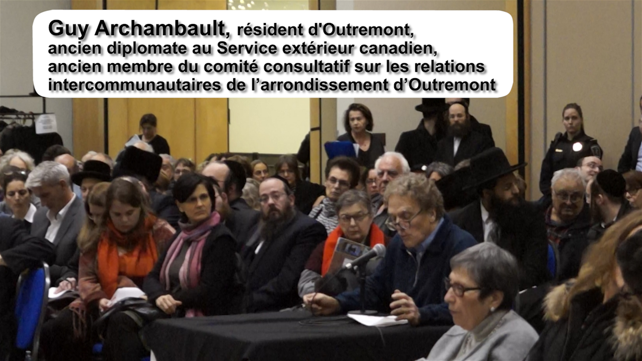 Guy Archambault, citoyen d'Outremont, s'exprime.