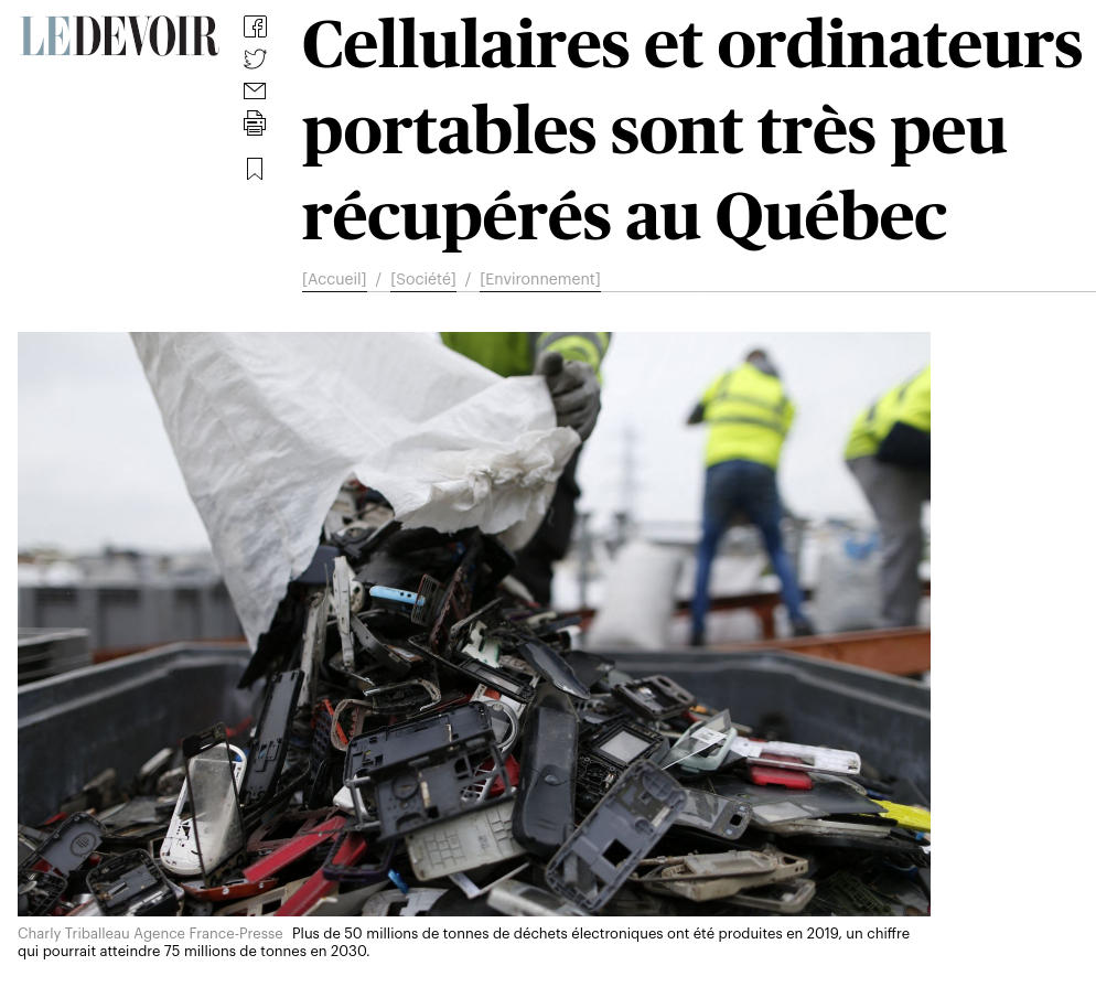 Capture d'article (Le Devoir)
